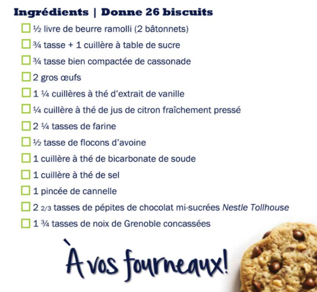 Recette biscuits DoubleTree