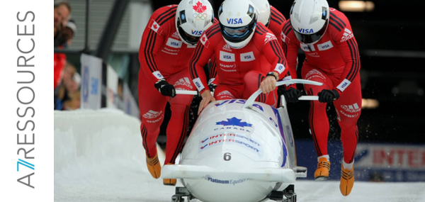 Une équipe de bobsleigh