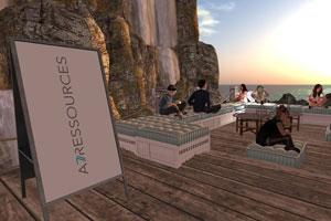 avatars au bord de la mer dans une activité de team building