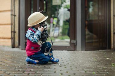 Enfant photographe